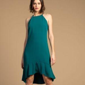 Trina Turk Petrol Zosia Halter High Low Dress 4